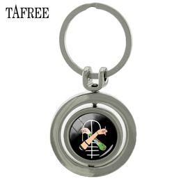 $enCountryForm.capitalKeyWord Australia - TAFREE Music Band Twenty One Pilots Keychains Cool Black Rotatable pendant Key Chains Key Ring Car Bags glass gem Jewelry TO28
