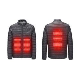 ffd4618a9 Jaqueta de aquecimento dos homens de inverno ao ar livre aquecimento  inteligente de algodão frente USB para baixo jaqueta de algodão roupas  quentes