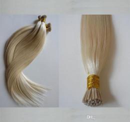 $enCountryForm.capitalKeyWord Australia - Cheap Double Drawn Human Remy Silky Straight Blonde Keratin Stick I Tip 200Grams Pre Bonded Hair Extensions Salon Supply Tangling Free