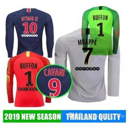 2019 2018 Long sleeve MBAPPsoccer jersey Champions League 18 19 MBAPPE  VERRATTI CAVANI training suit Goalkeeper Paris maillot football shirt 71a15237b
