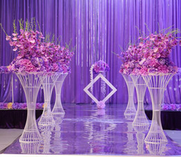 $enCountryForm.capitalKeyWord Australia - 2019 Mermaid Flower Vase Stand Metal Road Lead Flower Stand For Wedding Party Table Centerpiece Decorations