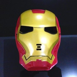 Kids Face Mask Red Australia - 2019 Cool Cosplay Anime Iron Man Mask Halloween Party Full-face SpiderMan Mask Make Up Toy for Kids