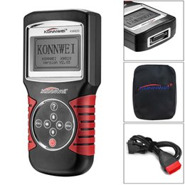 Discount english language KONNWEI KW820 multi-language OBD2 Scanner Car Auto Diagnostics Tool OBD 2 PK AD310 NT301 Update Free On PC Better Than E