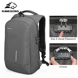 $enCountryForm.capitalKeyWord Australia - Kingsons Men's Bag 13''15'' Usb Charging Backpacks Anti-theft Backpack Bag Laptop Bags Men's Women's Fashion Travel Bags Nylon Y19051405