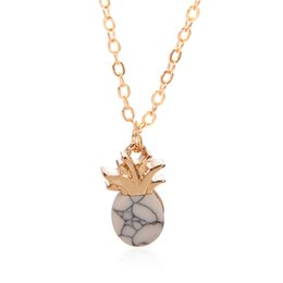 Necklaces Pendants Australia - New Simple Design Hollow Pineapple Chain Fruit Pendant Necklace Summer Jewelry Gift