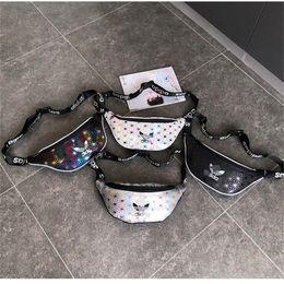 TableT boys online shopping - Men AD Laser Waist Bag Women Beach Bags Printed Fanny Pack PU Zipper Crossbody Handbag Travel Backpack Boy Single Shoudler Sports Bag C6404
