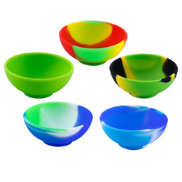 Oil Slick Containers Australia - 50X New Style Slick Oil Concentrate Storage Bowl Container Silicone Jars Dabs Wax Oil Container Rich Color Silicone Pinch Bowl