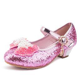 $enCountryForm.capitalKeyWord Canada - Enfants Children Princess Sandals Kids Girls Wedding Shoes High Heels Dress Shoes Party Shoes For Girls Pink Blue Gold