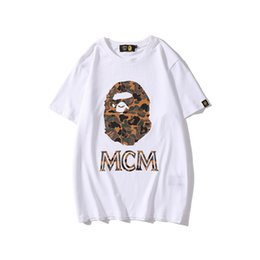 Wholesale new hip hop for sale – custom New Spring Summer Men s Cartoon Print Camo Sports T shirts Lover Casual Short Sleeve Hip Hop Loose T shirts