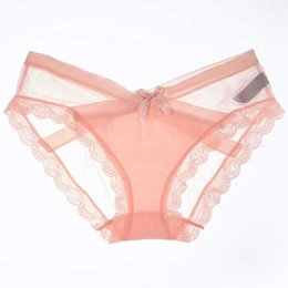 fbf70e9506e0 Sexy Panties Women Transparent Lace Soft Seamless Underwear Women Briefs  Plus Size Ladies Panties Breathable Plus Size drop shipping