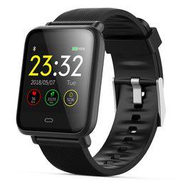 Rectangle Sport Watch For Men Australia - Smart Watch For Mens Q9 Blood Pressure Heart Rate Monitor Smartwatch Ip67 Waterproof Sport Fitness Trakcer Men Women Smartwatch Y19051703