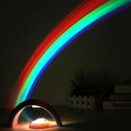 Rainbow Projectors Australia - Free shipping 2018 NEW Arrival Lucky Rainbow Light Amazing Rainbow Projector 3D LED Lamp Baby Room Night Light Projector Home Decoration