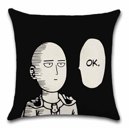 Wholesale Interest of hero Saitama One Punch King cushion covers Decor Chair seat sofa Decoration Home friend kids pillowcase bedroom gift