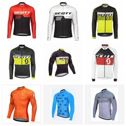 Downhill Bicycles NZ - 2019 SCOTT STRAVA team Bicycle Clothing Cycling Series Jersey Long Sleeve Top Downhill Racing Motorcycle Mountain Bike Breathable T-shirt 5