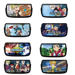 fashion stationery NZ - Cute Beyblade Burst pencil case cartoon multi-function pen box school pencil case stationery bag small object storage bag