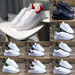 shoes man 43 2019 - Trend All-match Designer Men Women Outdoor Sneakers New Trend White Leather Platform Shoes Fashion Flat Party Wedding Ca