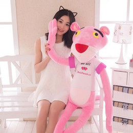 panther plush toy Australia - Stuffed Animals 30CM Lovely Pink Panther Soft Plush Toys Cute Kawaii Stuffed Animals Toy Birthday Gift Kids Movie Plush Doll