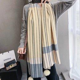 Ladies thick winter poncho online shopping - Brand Thick Women Winter Scarf Warm Cashmere Lady Shawls Pashmina Wraps Foulard Bandana Scarves Hijab Poncho Foulard Femme
