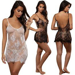 Women Lace Sexy Lingerie Nightwear Underwear G-string Babydoll Sleepwear Dress women's Bikini Cover Up Beach Dress on Sale