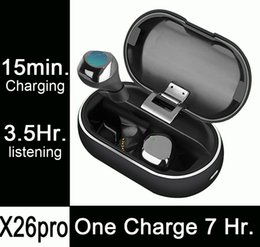 Wireless Headphones One NZ - 1pcs X26pro, 7 Hours Listening on One Charge, Fast Charging, Mini Wireless Bluetooth Headphones Earphones Earbuds PK airpods i10 i12 i20 tws