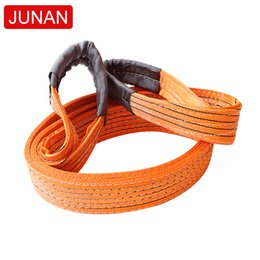 оранжевый полиэстер плоский ремень для подъема строп с двойными проушинами высокопрочный кислотостойкий