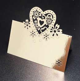$enCountryForm.capitalKeyWord NZ - 2019 Hollow out love heart Card Table Card Wedding Invitation Card White Laser Cut Wedding Invitations Paper Wedding table decoration