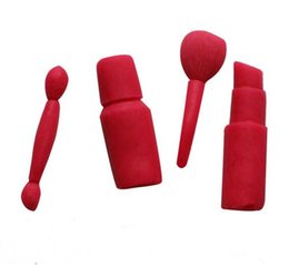Lipstick rubber online shopping - New Bar Makeup tools lipstick nail polish chocolate Party DIY fondant cake decorating tools silicone mold dessert moulds