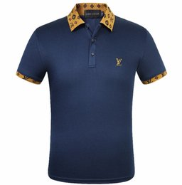 China Mens Designer Polo Shirts Fashion Men T-shirt Embroidery L Short Sleeve Polo Brand Basic Top Office Leisure Tees M-3XL cheap office t shirts suppliers
