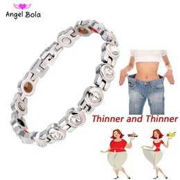 bio products Canada - Women Weight Loss Magnetic Bio Energy Men Single Row Health Magnetic Tourmaline Bracelet Bangle Jewelry Slimming Product