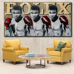 $enCountryForm.capitalKeyWord Australia - 1 Piece MUHAMMAD ALI URBAN POP ART Home decor Wall art Canvas Painting Wall Pictures Print for Living Room Art Pictures No Frame