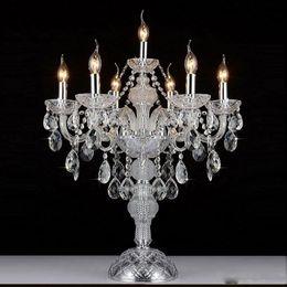 $enCountryForm.capitalKeyWord Australia - European luxruy E14 candle crystal table lamp 7 heads fashion crystal table lamp living room lamps bedroom lamp K9 top crystal table lights