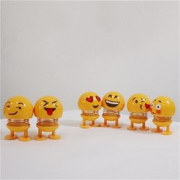 Diy springs online shopping - Emoji Creative Smiley Face Doll Shaking His Head Spring Decoration Toy DIY Lovely Male And Female Gift jya I1