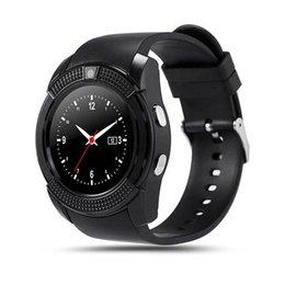 Bluetooth Smart Watch Sim Australia - Bluetooth V8 Smart Watch Smartwatch Women Men Phone Clock Call SIM TF Camera Clock Support BT 4.0 For Android Round Watch