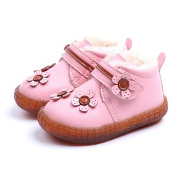 $enCountryForm.capitalKeyWord Australia - New Winter Baby Shoes Warm Cotton Toddler Shoes Non-slip Boots Girls Flower 1-3.5 Years Toddler Winter Boots