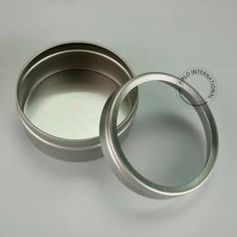 $enCountryForm.capitalKeyWord NZ - 50pcs lot 30g Aluminium Cosmetic Jars Make Up Tools,Cap With Window,Customizable Metal Display Box For Skin Cream Packaging