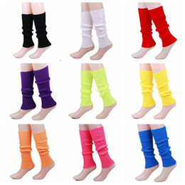 $enCountryForm.capitalKeyWord Australia - Leg Warmers Candy Colors Girls Socks Crochet Wool Leg Sleeves Knitting Stripe Socks Baby Leggings 10 Colors Wholesale YW3235