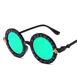 Wholesale Beach Kids Sunglasses Australia - Luxury Designer Children Sunglasses Fashion Round Summer Style Girls Boys Sun glasses For Kids Beach Supplies UV Protective Eyewear
