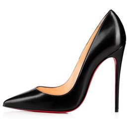 shoe linings Australia - Women Pumps dress Shoes Woman Red Bottom High Heels Pumps Stilettos Shoes black matte Sheepskin lines women wedding shoes 8cm 10cm 12cm f3s