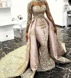 Embroidery Dress Sheer Australia - Luxurious Mermaid 2019 Arabic Evening Dresses Long Sleeves Sheer Neck Embroidery Prom Dresses Stunning Formal Party Bridesmaid Pageant Gowns