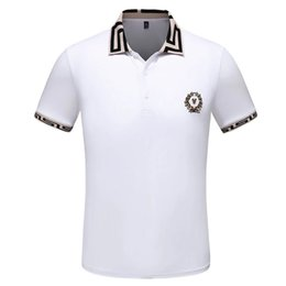 xxxl long sleeve polo UK - Men's Luxury Polo Shirt 2 Color Short Sleeve Print Summer T-Shirt M-XXXL Lapel Designer Top