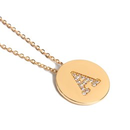 Necklaces Pendants Australia - Round micro-inlaid Necklace Letter necklace Round Necklace Handcrafted Pendant Accessories for men and women New Personality Jewelry