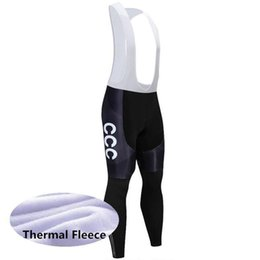 unisex lycra jersey Australia - 2020 Winter Team New Ccc Thermal Fleece Cycling Jersey Bike Pants Set Mens Ropa Ciclismo Winter Cycling Wear Maillot Culotte Y022602