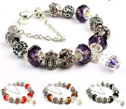 Diy Bracelets For Sale Australia - 2019 New DIY Crystal Beads Charm Bracelets European and American Fashion Jewelry Accessories Women Beaded Bracelet for Sale length 18cm
