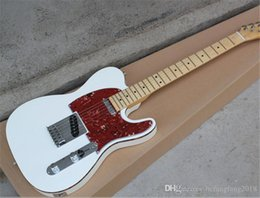 Musical Instruments White Body Electric Bass Guitar With Red Pearl Pickguard,maple Fingerboard,can Be Customized As You Request With The Best Service Guitar