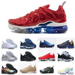 3f0d925d955 Ventas calientes 2019 Nuevos Zapatos Tn Plus Uva Volt Hyper Violet Blue  Hombres Mujeres Zapatos Corrientes Barato Triple Blanco Negro Trainer Tn  Cushion ...