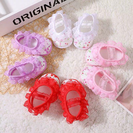Learning For Infants Australia - Summer Footwear for infants aged 0-18 months learning to walk Soft bottom shoes Lace and Flower Shoes 0310