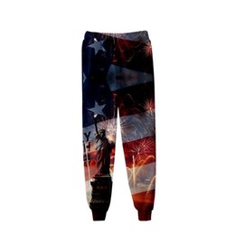 26adab4a02aeef Plus Size Brand Men's Pants Sweatpants Summer 2019 Statue of Liberty Hip  Hop Streetwear Joggers Haren Trousers for American Flag