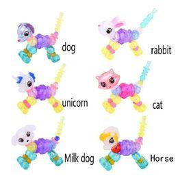 Diy Boys Toys UK - Surprise Design Animal Twisted Bracelet Magic Creative Children Toy Boy Girl DIY Twist Unicorn Bracelet For Xmas Gift