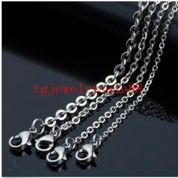 jewelry findings links UK - 1.5 2 2.4 3mm 100pcs Lot Stainless Steel Silver Cross Chain Men Necklace Finding Pendant DIY Wholesale Jewelry 16-40inch