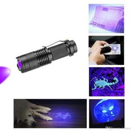 Uv Flashlight Torch Australia - 395-410nm Led UV Flashlight Torch Light Ultra Violet Light Blacklight UV Lamp For Marker Checker Detection